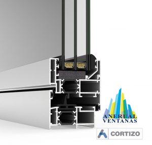 Ventana de aluminio Cor 60 RPT de Cortizo
