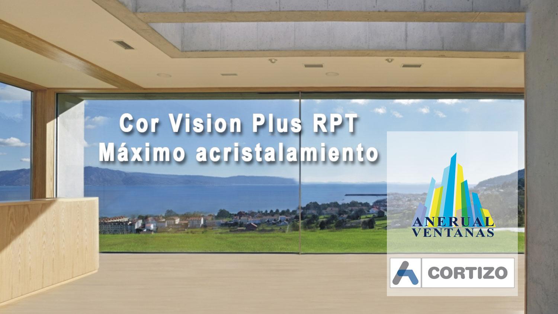 Ventana de aluminio corredera Cor Vision Plus con Rotura de Puente Térmico de Cortizo