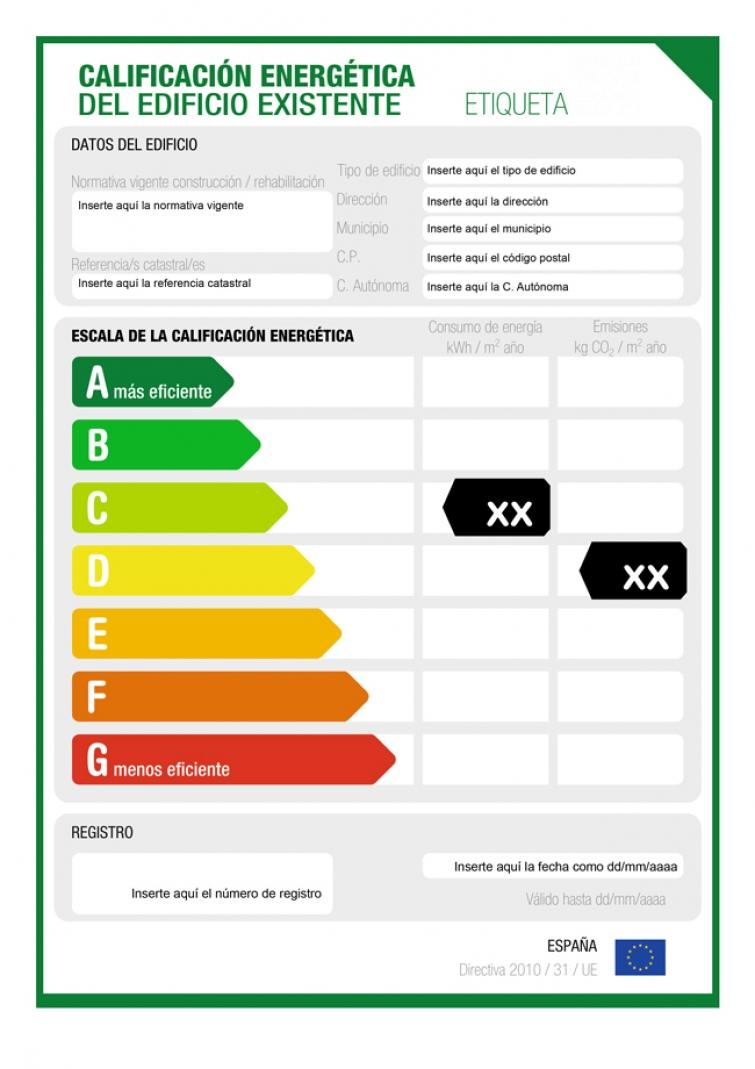 etiqueta certificacion energetica vivienda