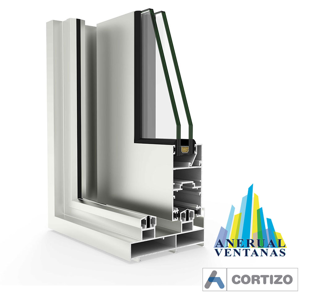Balconera Mediterránea de aluminio de Cortizo (Detalle)