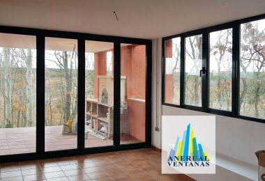 Vista interior con las nuevas ventanas
